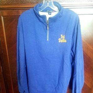 Tri delta sorority quarter zip sweatshirt